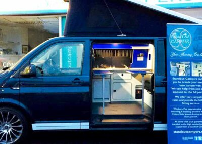 Bluew VW Campervan on Show