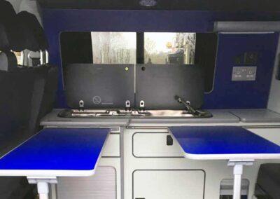 Inside VW Campervan