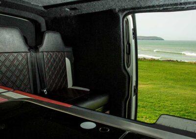 Inside of VW Campervan with Door open