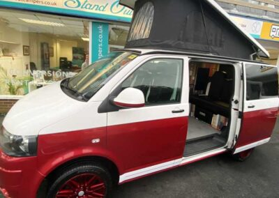 Red VW Campervan
