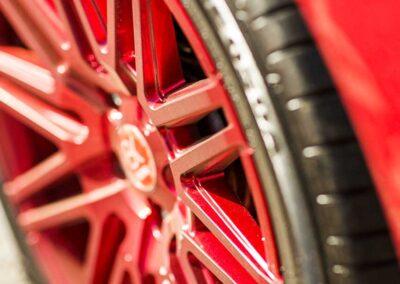 VW Campervan Red Wheel