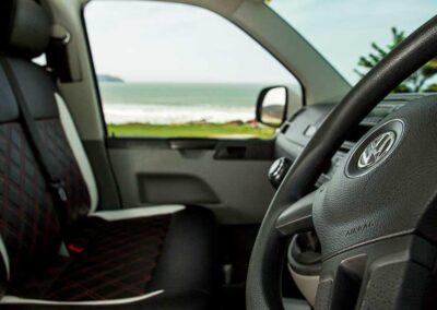 VW Campervan driver console