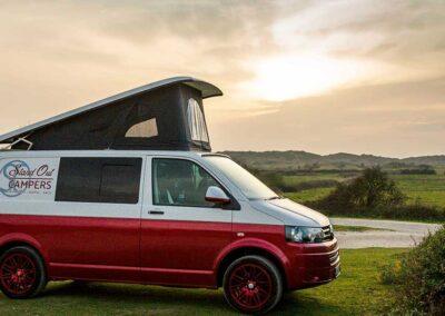 VW Campervan sunset