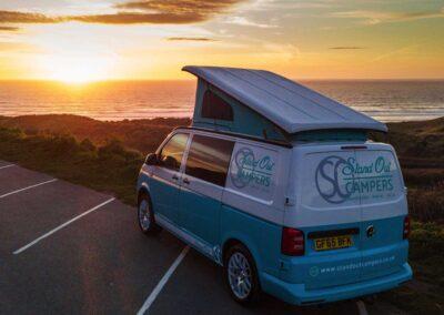 VW Campervan at Sunset