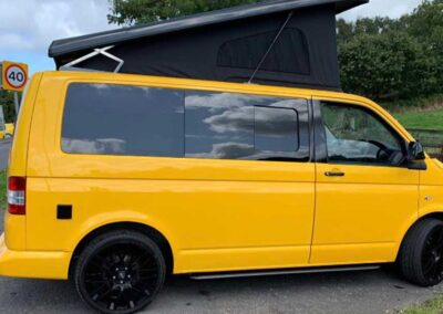 Yellow Campervan with PopTop